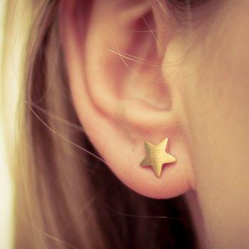 boucles d'oreilles, etoiles, dore, or, odette et lulu, starlight, bijoux, accessoires, createur