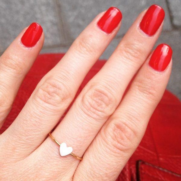 bague, love actually, rouge, blanc, noir, odette et lulu, eshop, createurs, love, coeur, dore, or, design