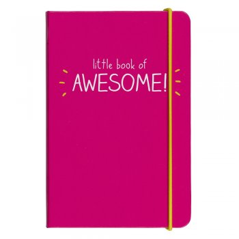 carnet, notepad, little book of awesome, élastique, rose fluo, createurs, eshop, odette et lulu