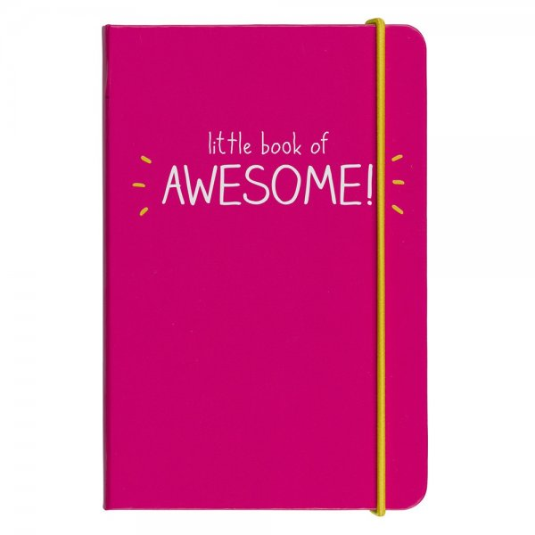 carnet, notepad, little book of awesome, élastique, rose fluo, createurs, eshop, odette et lulu