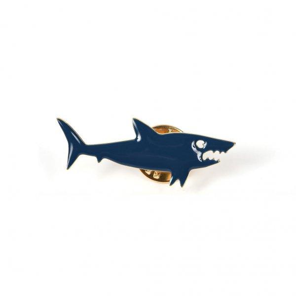 pins, shark, requin, dents de la mer, émaillé à l'or fin, odette et lulu, titlee, createurs, haute fantaisie