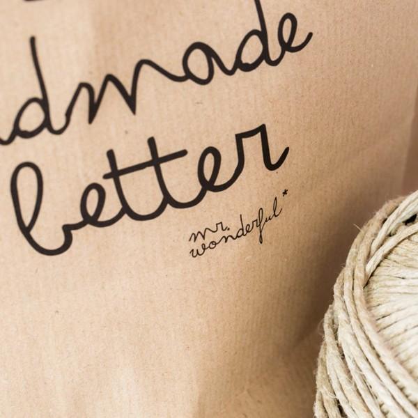 concept store, odette et lulu, créateurs, sac en kraft, cadeau, papier cadeau, naturel, love, lots of love inside, handmade is better, mr wonderful