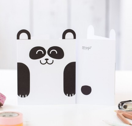 carte, panda, odette et lulu, mr wonderful, papeterie, cute, mignons, eshop, concept store, créateurs