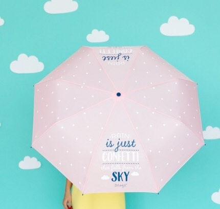 parapluie, rain is just confettis in the sky, rose, pink, odette et lulu, concept store, créateurs, odette et lulu, eshop