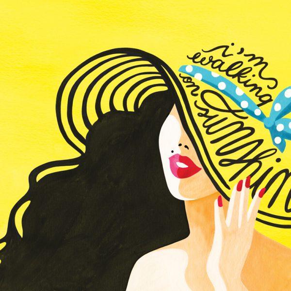 affiche, I am walking on sunshine, odette et lulu, draw me a song, summer, peps, talent, concept store, eshop, poster