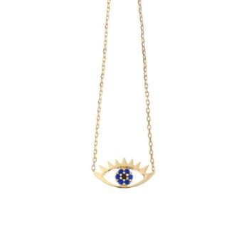 collier, odette et lulu, créateurs, estella bartlett, lucky, collier contre le mauvais oeil, doré, ras de cou, automne-hiver 2016, collier de l'été, summer, fashion