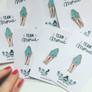 pin's, team morue, youliedessine, odette et lulu, cadeau, idée cadeau, amies, BFF, meilleurs amies, noel, créateurs, concept store