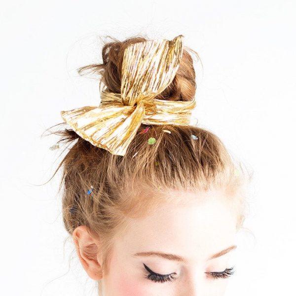 foulard, cheveux, bando, bandana, odette et lulu, créateurs, concept store, eshop, doré, rose, petits coeurs rouges, cadeau parfait, petits prix