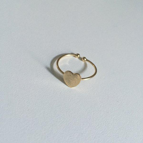 bague, remember, odette et lulu, coeur doré, 7bis, créateurs, eshop, concept store, cadeau de noel