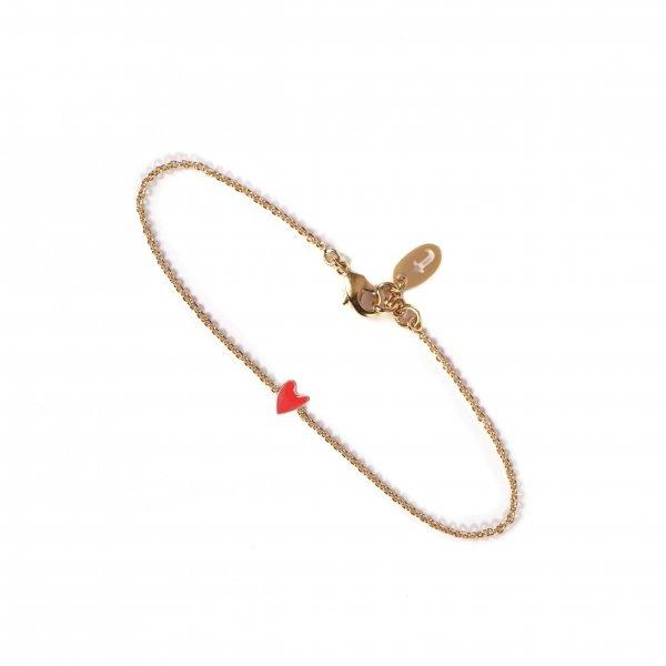 bracelet, coup de coeur, odette et lulu, coeur, rouge, coeur rouge, idée cadeau, noël, amoureux, titlee, concept store, créateurs, eshop, réglable, perfect gifs, petit prix