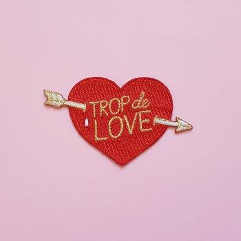 écusson brodé, patch, odette et lulu, créateurs, vintage, lolita picco, trop de love