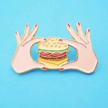 pin's, burger, odette et lulu, créateurs, eshop, concept store, cheeseburger, french design, gift idea, cadeau parfait