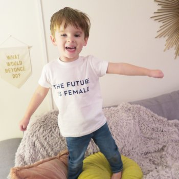 t-shirt, the future is female, créateurs, eshop, otherwild, odette et lulu, french distribution, féminisme, t-shirt féministe, LGBT, fight, women , women's rights, designer, defense, future, enfant, kid, fashion kid
