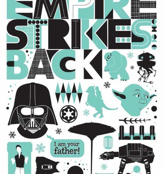 affiche, star wars, the empire strikes back, odette et lulu