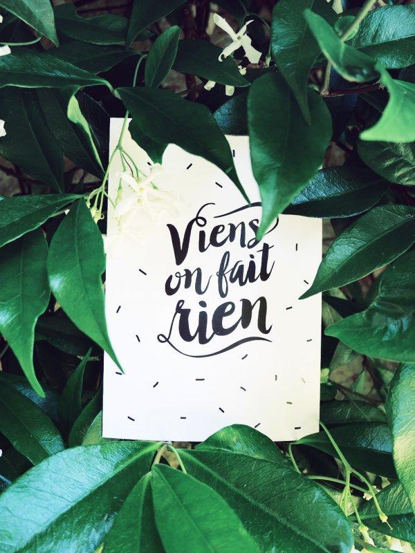 carte postale, viens on fait rien, youliedessine, dimanche, carte de voeux, confettis, créateurs, concept store
