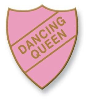 badge, rose, rétro, old school, dancing queen, doré, émaillé, eshop, créateurs, abba
