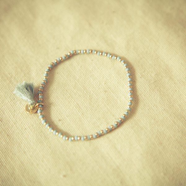 bracelet, odette et lulu, 7bis, acapulco, eshop, createurs, mix and match, bleu marine, turquoise