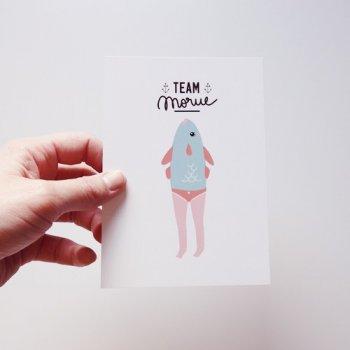 carte postale, odette et lulu, team morue, youliedessine, eshop, createurs
