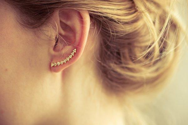 boucles d'oreilles, asymétrique, doré, strass, triangles, montante, clou, sunny, 7bis, odette et lulu, eshop, créateurs, rock