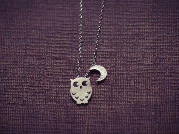 collier, goodnight owl, odette et lulu, chouette, dore, argente, createurs, eshop, 7bis, boucles d oreilles, mignon, fin