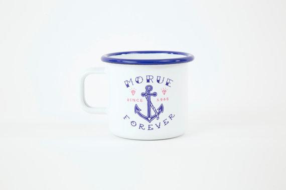 mug, eshop, odette et lulu, lolita picco, morue forever, émaillé, handmade
