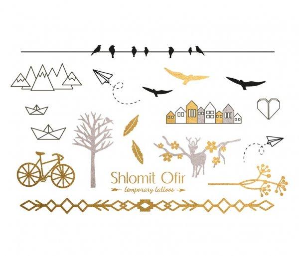 tatouages éphémères, summer, shlomit ofir, best sellers, designs, odette et lulu,bijoux de peau, createurs, eshop