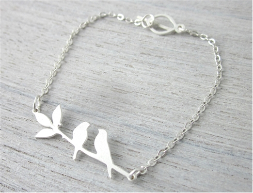 bracelet, odette et lulu, createurs, shlomit ofir, eshop, oiseaux, birds, love
