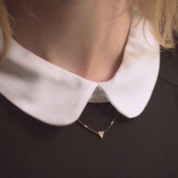 collier, odette et lulu, urban, doré, noir, perles, createurs, eshop, mignon, pas cher