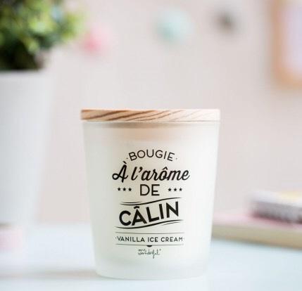 concept store, odette et lulu, bougie, createurs, mr wonderful, amoureux, idée cadeau saint valentin, vanilla ice cream, vanille, bougie parfumée