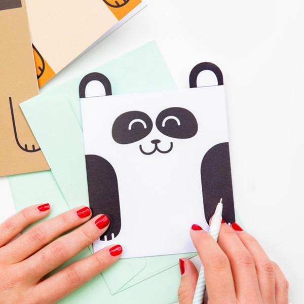 carte, panda, odette et lulu, mr wonderful, papeterie, cute, mignons, eshop, concept store, créateurs