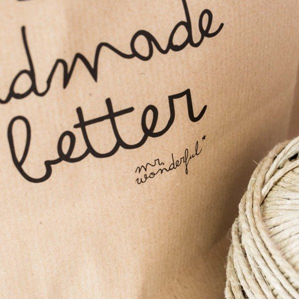 concept store, odette et lulu, créateurs, sac en kraft, cadeau, papier cadeau, naturel, love, lots of love inside, handmade is better, mr wonderful