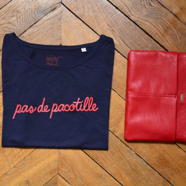 t-shirt, odette et lulu, pas de pacotille, Iam, créateurs, bleu marine, printemps, été 2016, nouvelle collection