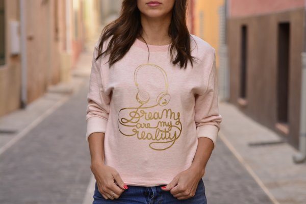 sweat, odette et lulu, la boum, dreams are my reality, rose layette, gold, doré, summer, printemps, été, festival, mythique, film