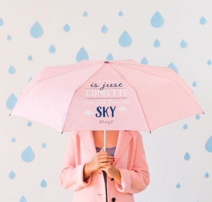 parapluie, rain is just confettis in the sky, rose, pink, odette et lulu, concept store, créateurs, odette et lulu, eshop
