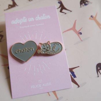 pin's, chaton, duo de pin's, odette et lulu, félicite aussi, créateurs, eshop, concept store, nouveautés, 90's kids, 1990, passion pin's, chat