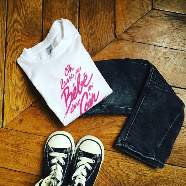 t-shirt, enfant, maman, enfant, maman, fille, maman, garçon, petit boy, baby boy, little girl, petite fille, bébé, odette et lulu, on laisse pas Bébé dans un coin, concept store, eshop, créateurs, dirty dancing, patrick swayze