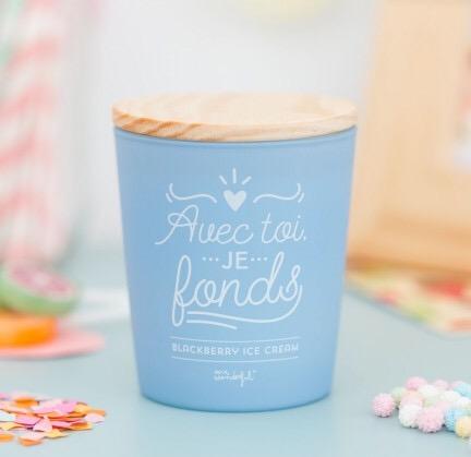 bougie, avec toi je fonds, odette et lulu, bougie bleue, mr wonderful, concept store, créateurs, cire végétale naturelle eshop