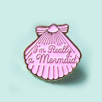 pins, je suis vraiment une sirène, I'm really a mermaid, odette et lulu, créateurs, i love crafty, concept store online, eshop, talent, pin, pin's, summer, sirène, petite sirène, cheveux, prince