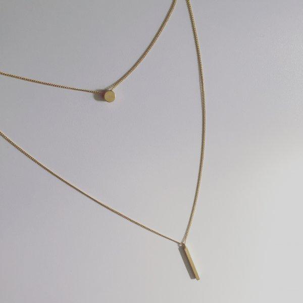 collier, sautoir, double chain, or, argent, odette et lulu, 7bis, bijoux de créateurs, un bonheur à porter, nation hypoallergénique, doré, gold, festival, bijoux de festival