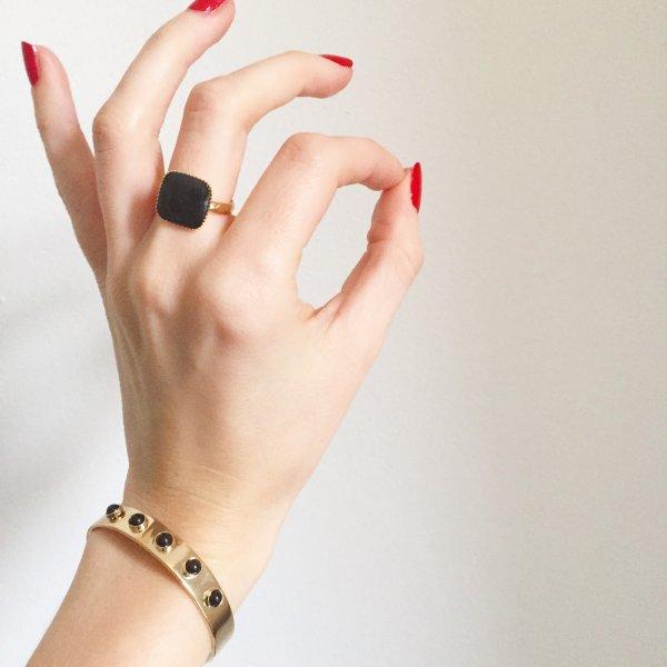 jonc, luna, odette et lulu, 7bis, créateurs, concept store, eshop, idée cadeau, noel, christmas, doré, ajustable, noir