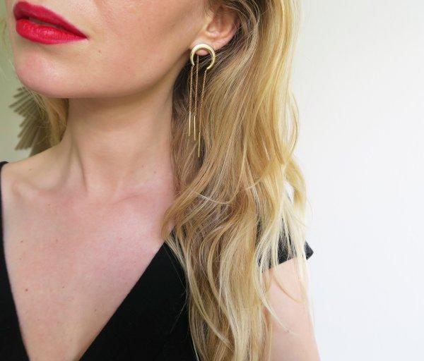 boucles d'oreilles, odette et lulu, créateurs, eshop, concept store, doré, 2017, 7bis, perfect gift, idée cadeau, boucles d'oreilles, earrings, demi lune