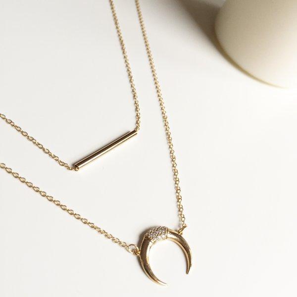 collier, doré, lune inversée, anthics, créateurs, eshop, 7bis, concept store, créateurs, bohème chic, bijou tendance, idée cadeau