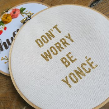 tambour, decoration, deco murale, decoration murale, home, tambour decoratif, don't worry be yonce, message, feel good, createur, eshop, concept store, odette et lulu, summer boyfriend, made in france