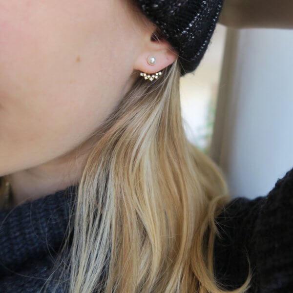 boucles d'oreilles, perle, odette et lulu, créateurs, perles, tendance, été 2016, hiver 2017, strass, 7bis, diamants, strass, poussoir