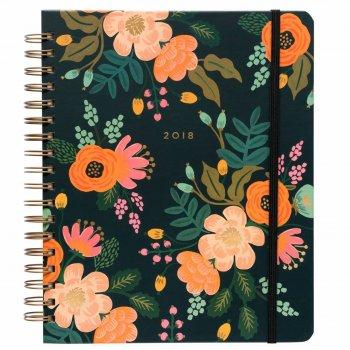agenda, odette et lulu, fleurs, fleuri, russian flowers, rifle paper co, 2018, planificateur, planner, 2018, 18 mois, bel agenda, perfect gift