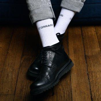 chaussettes, odette et lulu, félicie aussi, connard, chaussettes décalées, messages marrants, fait en France avec humour, créateurs, concept store, gift idea