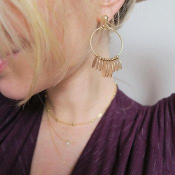 créoles, gold, odette et lulu, boucles d'oreilles, créateurs, eshop, concept store, accessoires, doré, pampilles, bohème