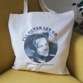 tote bag, leonardo dicaprio, titanic, createurs, eshop, concept store, I will never let go, odette et lulu, tote bag