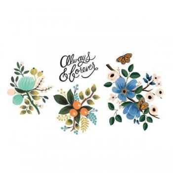 fleurs, fleur, flowers, rifle paper co, odette et lulu, tattoo, tatouage éphémère, créateurs, eshop, concept store, joli tatouage éphémère, perfect gift, summer, spring, printemps, été