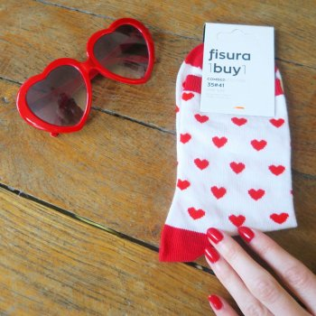 chaussettes, coeur, odette et lulu, créateurs, figura, mantagifts, socks, heart socks, concept store